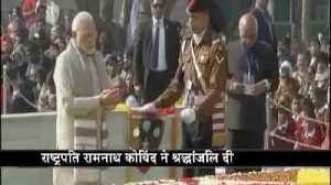 News video: President and PM paid tribute on Rajghat on Mahatma Gandhi's 70th death anniversary