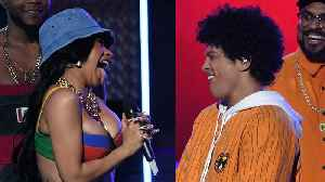 """News video: Cardi B Offers Bruno Mars THIS After He Featured Her On """"Finesse"""""""