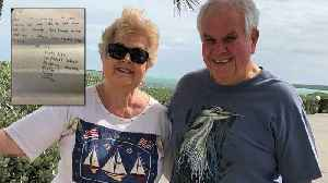 News video: Couple in Florida Finds 30-Year-Old Message in a Bottle Sent from Scotland
