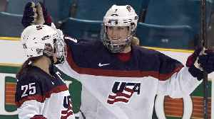 News video: After fighting for equal pay the U.S. women's hockey team aims for gold
