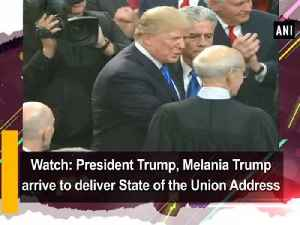 News video: Watch: President Trump, Melania Trump arrive to deliver State of the Union Address