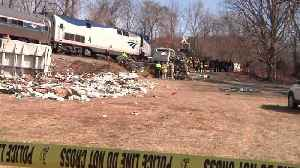 News video: Train Carrying GOP Lawmakers Crashes Into Garbage Truck