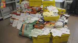News video: Italian police arrest postman after finding hundreds of undelivered mail at his home