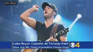 News video: Luke Bryan To Play Fenway Park This Summer