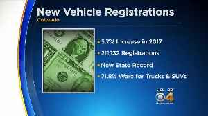 News video: New Vehicle Registrations Sees Record High In Colorado