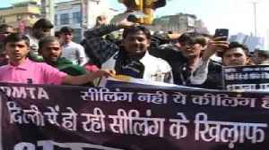 News video: Delhi Markets Wear Deserted Look, Protests Against Sealing