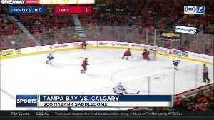 News video: Tampa Bay Lightning strike with five unanswered goals, zap Calgary Flames 7-4