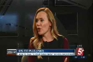 News video: How to talk to your kids about school shootings p2