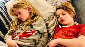 News video: Jessica Simpson Shares Photo of Her Two Kids Sick with the Flu