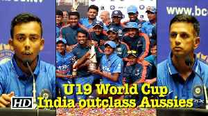 News video: U19 World Cup: India outclass Aussies to win 4th title