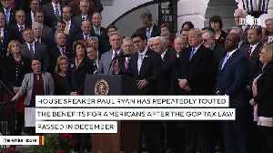News video: Paul Ryan Tweets About Someone's $1.50 Bump After GOP Tax Overhaul