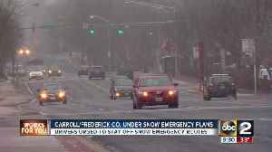 News video: Carroll, Frederick Counties activate Snow Emergency Plans