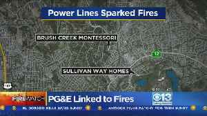 News video: Report: Power Lines Sparked At Least 2 Northern California Wildfires