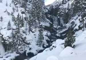 News video: Thermal Waters Keep Yellowstone Waterfall Flowing in Cold Weather