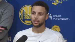 News video: Stephen Curry Laughs Off Being Booed At Super Bowl