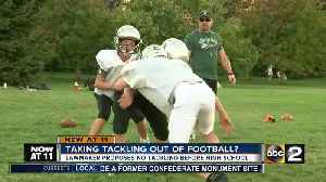 News video: Maryland lawmaker to introduce bill to ban tackle football for kids
