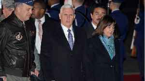 News video: Pence Arrives In Japan On Asia Trip That Includes Stop At Olympics