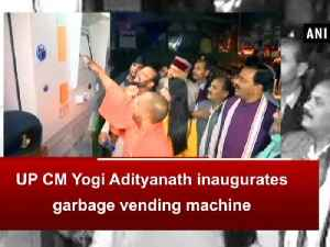News video: UP CM Yogi Adityanath inaugurates garbage vending machine