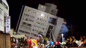 News video: People Jump to Safety After Deadly Earthquake in Taiwan Collapses Buildings