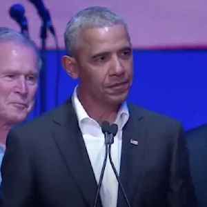 News video: Former Presidents Unite to Support Hurricane Relief