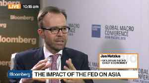 News video: Goldman Sachs' Hatzius Sees 4 Fed Rate Hikes in 2018