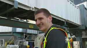 News video: 2 Nuggets Starters Get To Experience What It's Like To Work At DIA