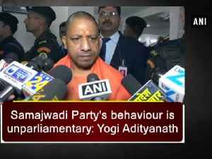 News video: Samajwadi Party's behaviour is unparliamentary: Yogi Adityanath