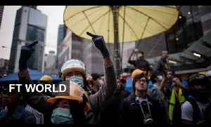 News video: Hong Kong protests turn violent again
