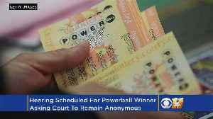 News video: Woman With $559M Winning Powerball Ticket To Get Hearing