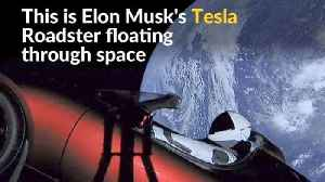 News video: Drive me to the moon: Elon Musk's SpaceX sends Tesla for a ride around Earth