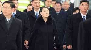 News video: Kim Jong Un's sister arrives in South Korea for the opening ceremony of the Winter Olympics
