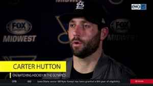 News video: Blues players share their thoughts on the Winter Olympics