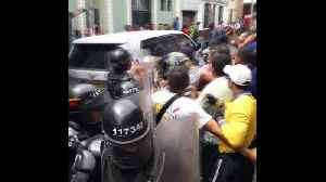News video: Protesters greet FARC leader with eggs on Colombia campaign trail