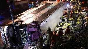 News video: At Least 18 Dead In Hong Kong Bus Accident