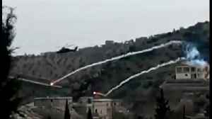 News video: Turkish helicopter downed in northern Syria
