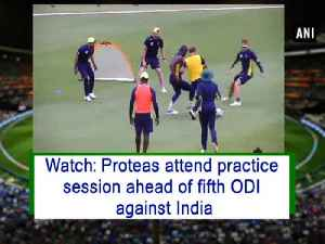 News video: Watch: Proteas attend practice session ahead of fifth ODI against India