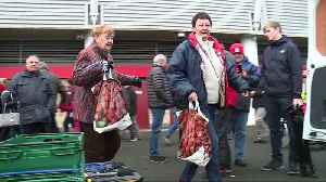 News video: Boro fans showed their support for a Teesside food bank during the weekend's home game