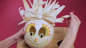 News video: Corn Husk Hair Pumpkin