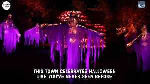 News video: This Town Celebrates Halloween Like You've Never Seen It Before