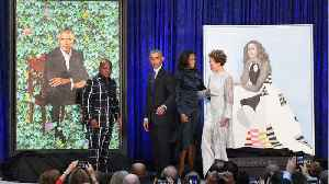 News video: Obama Jokes About New National Portraits