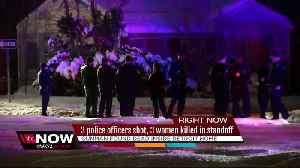 News video: 3 Detroit police officers shot, 3 women killed after barricaded gunman situation
