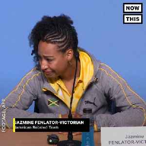 News video: Jamaican Olympian Jazmine Fenlator-Victorian Is a Role Model For Black Children
