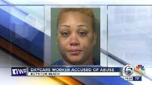 News video: Daycare worker arrested after child abuse allegations in Boynton Beach