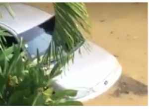 News video: Car Flooded in Surigao City Following Tropical Storm Sanba