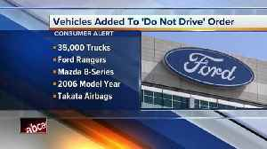 News video: Air bag danger: Ford, Mazda add pickups to do-not-drive list