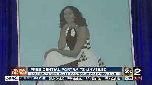News video: Baltimore artist's painting of Michelle Obama unveiled at the National Portrait Gallery