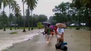 News video: Tropical storm Sanba weakens after flooding Phlippines' Surigao