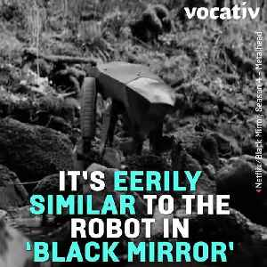 "News video: Boston Dynamics ""Black Mirror"" Robot Dog Can Now Open Doors"
