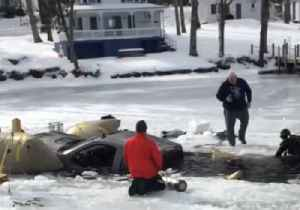News video: Truck Pulled from Ice on New Hampshire's Lake Winnipesaukee