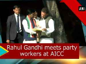 News video: Rahul Gandhi meets party workers at AICC